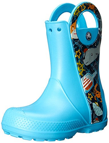 crocs Handle It Sea Life K Rain Boot (Toddler/Little Kid), Electric Blue, 9 M US Toddler