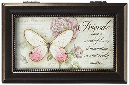 Carson Home Accents 18286 Friends Jane Shaky Music Box, 6-Inch by 4-Inch by 2-1/2-Inch