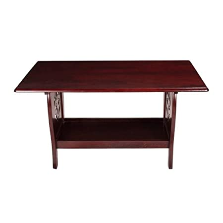 Woodness Parker Solid Wood Coffee Table (Matte Finish, Mahogany)