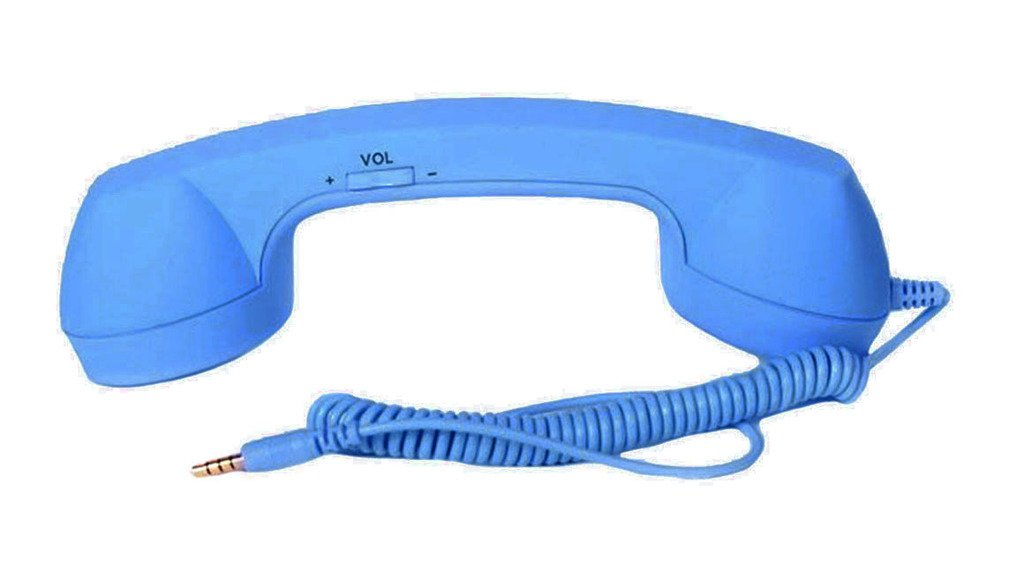 Retro Wired 3.5mm Handset Receiver for Mobile Device iPhone, iPad, Dark blue