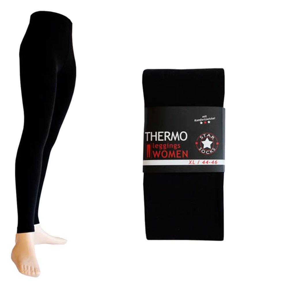 2pezzi Leggings termici nero extra Warm Gherone 24550sw