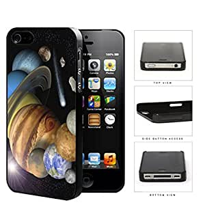 The Solar System Stars Planets And Shooting Stars Hard Plastic Snap On Cell Phone Case Apple iPhone 4 4s