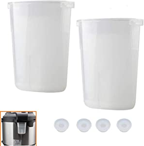 Longan Craft Condensation Collector Cup Water Collection Replacement for Instant Pot 5 6 8 Quart, Duo, Duo Plus, Ultra, Lux,2 Pack with 4 Gaskets