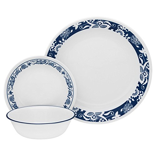 510TJn0zXQL - Corelle Livingware 16-Piece Dinnerware Set, True Blue, Service for 4