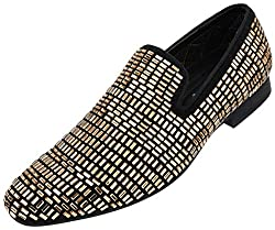 Faux Velvet Slip-on Encrusted with Faux Crystal/Glass Jewels