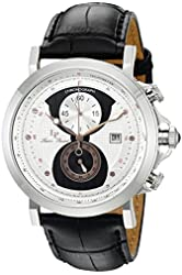 Lucien Piccard Watches Pegasus Chronograph Leather Band Watch