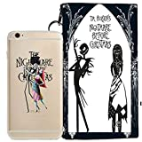 jack and sally iphone case - Disney Little Mermaid (Ariel), Peter Pan, Snow White, Lilo & Stitch, Mickey & Minnie Mouse, Nightmare Before Christmas Jelly Clear Case for Apple iPhone 7 (+ zipper pouch) (Jack & Sally)