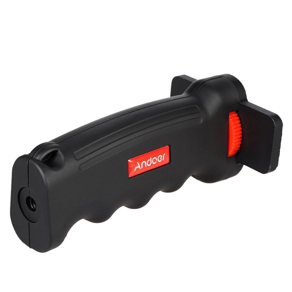 Andoer Wide Platform Pistol Grip Camera Handle with 1//4 Screw for SLR DSLR DC Canon Nikon Sony Iphone Xiaomi Smartphone
