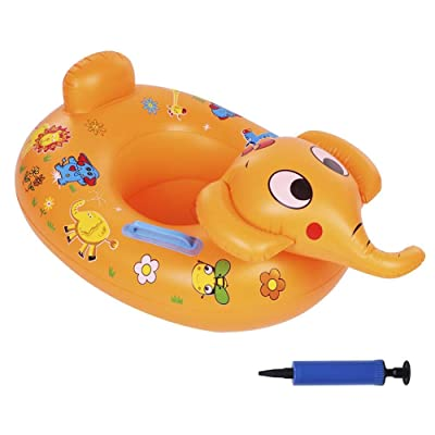 Baby Pool Float Toddlers Swimming Float Inflatable Swim Ring Cute Animal Elephant Float with Pump Inflator : Baby