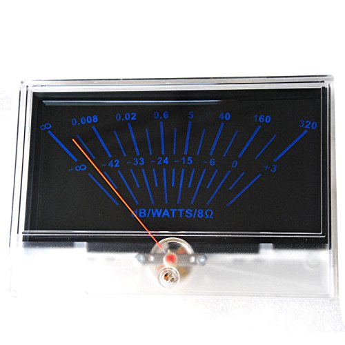 P-134 VU panel meter DB Level Header Audio power Amplifier chassis Back light by Jolooyo