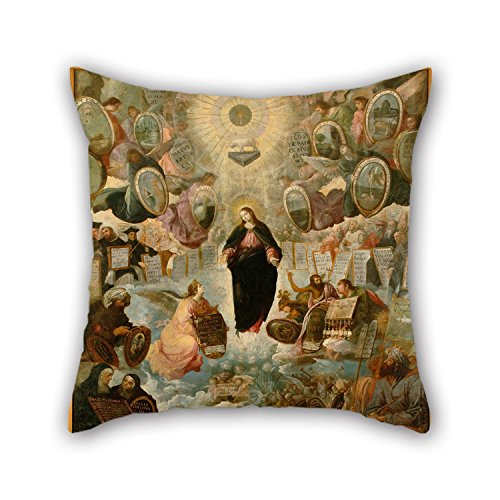 [18 X 18 Inches / 45 By 45 Cm Oil Painting Juan De Roelas - 'Alegoría De La Virgen Inmaculada' Pillow Cases ,two Sides Ornament And Gift To Sofa,dining Room,gril] (80s Rock N Roll Costumes)