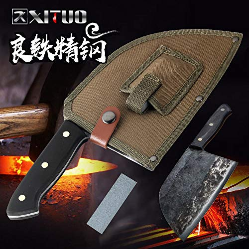 Best Quality Kitchen Knives Handmade Knife Kitchen Outdoor Camping Hunting Butcher's Beef knife Nakiri Gyuto Chopper Meat Slicing Chef Knife (Best Gyuto Knife 2019)