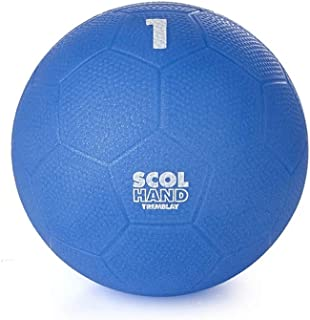 Visiodirect Ballon Handball en PVC SCOL'HAND, Coloris Bleu - Taille :1 - Diamètre 16,5 cm