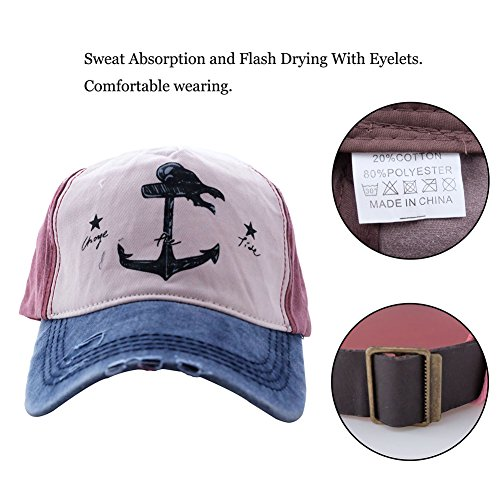 13a693b78 Peak Mall Pirate Ship Anchor Printing Vintage Baseball Cap ...