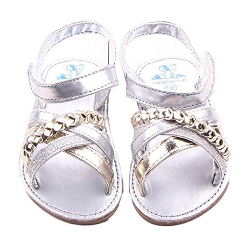 Transer Kleinkind Mädchen Krippe Schuhe Neugeborenen Blume Weiche Sohle Anti-Rutsch-Baby-Turnschuhe Sandalen S