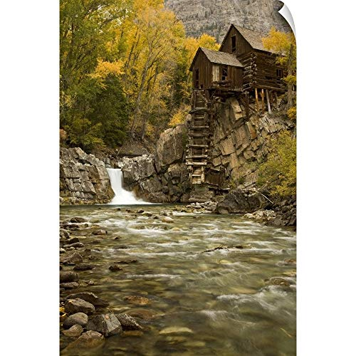 Colorado, Gunnison National Forest. Wildhorse Mill on The Crystal River Wall Peel Art Print, ()