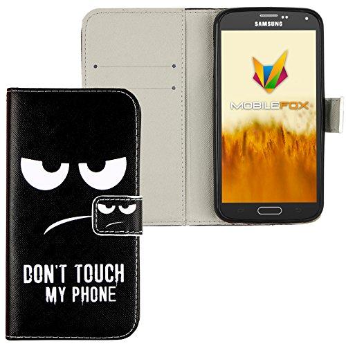 Mobilefox Dont touch Flip Case Handytasche Samsung Galaxy S5