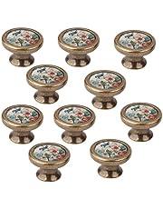 Deurknoppen Vogelbloem Patroon Keuken Kast Knoppen Lade Trekt Kabinet Knoppen Decoratieve Handwerk Knoppen en Trekt