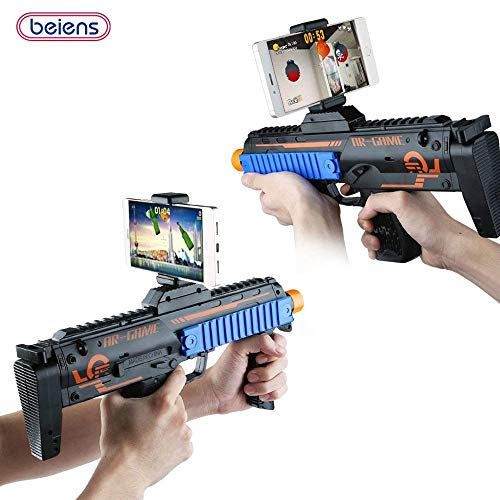 18 Types of De-stress Games for Children/ Adults, AR Toy Game Gun, Funny 3D Augmented Reality Gun Connected with IOS or Android 4.3 up By Wireless Bluetooth