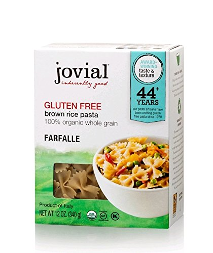 Jovial Foods, Organic Brown Rice Farfalle Pasta,12 Oz , (1-Pack)