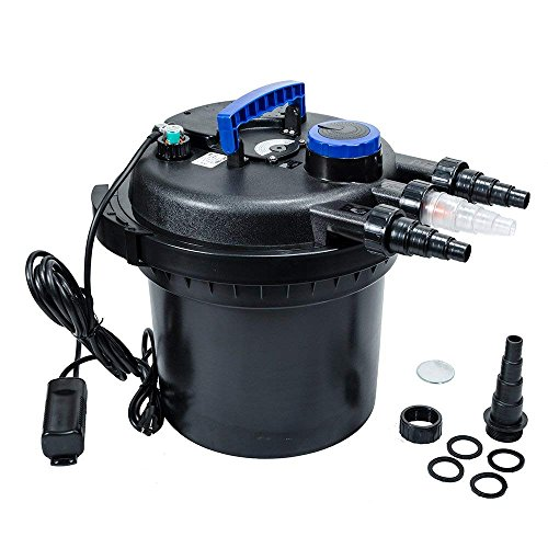 iMeshbean 5000 GAL Pressure Bio Filter with 18W UV Sterilizer Light Koi Fish Pond Pump USA ()