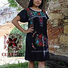 Amazoncom Vestido Artesanal Negro Mexicano Handmade