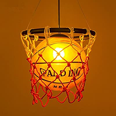 Industrial American Country Chandelier Ceiling Pendant Light Basketball Lighting Hanging Light Warm White for Restaurant Bar Sports Shop by LightInTheBox