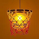 Industrial American Country Chandelier Ceiling Pendant Light Basketball  Lighting Hanging Light Warm White For Restaurant Bar