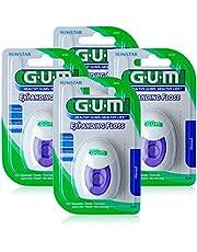 GUM EXPANDING FLOSS / pluist tijdens gebruik / ook geschikt voor nauwe interdentale ruimtes / licht gewaxt / zacht voor het tandvlees / 30m / 4 stuks