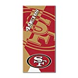 """Officially Licensed NFL San Francisco 49ers Puzzle Beach Towel, 34"""" x 72"""""""