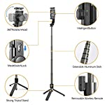 Selfie Stick Tripod, Foldable Gimbal Stabilizer with Bluetooth Wireless Remote, Extendable Cell Phone Tripod, 360° Rotation Portable Phone Holder Stand Compatible with iPhone Android Smartphone 4