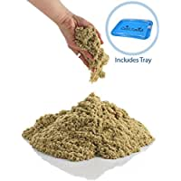CoolSand 5 lb. Refill Bucket With Inflatable Sandbox – Kinetic Play Sand For All Ages – (Natural)