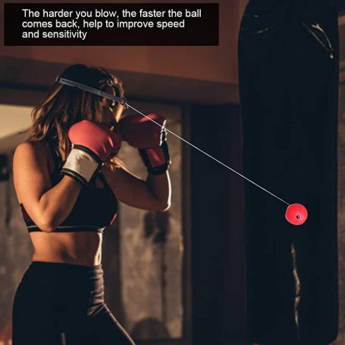 Fightball//Kampfball//Trainingsball ieenay Boxen Training Ball,Fitness-Trainingsball Trainingsger/ät Speedball f/ür Boxtraining Zuhause und Outdoor Reflex Fightball Speed Fitness Punch Boxing Ball mit Kopfband
