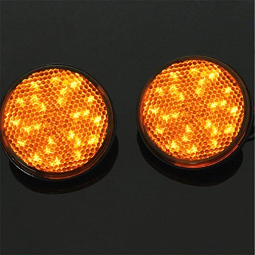E-Bro 2X Round Reflector Red LED Rear Tail Brake Stop Turn Signal Light Lamp 12V - Small Round Reflectors