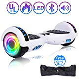 SISIGAD Hoverboard 6.5' Self Balancing Scooter with Colorful LED Wheels Lights Two-Wheels self Balancing Hoverboard Dual 300W Motors Hover Board UL2272 Certified(Free Carry Bag Available)