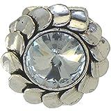 LEUCOSPERNUM Clip cristal écharpe couleur argent
