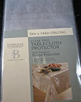 Everyday Luxuries Clear Vinyl Tablecloth Protectors- By Elrene- Assorted Sizes- Oblong/Oval (70 x 144 Oblong/Oval)