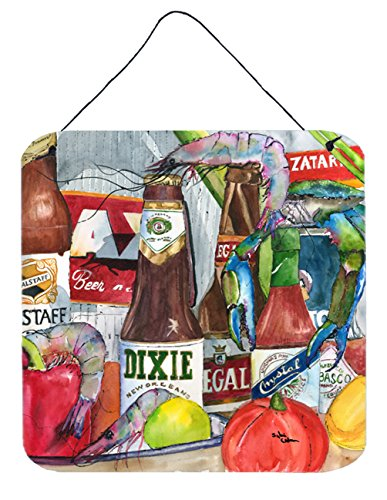 Caroline's Treasures 1017-2DS66 New Orleans Beers and Spices Aluminum Metal Wall or Door Hanging Prints, 6 x 6, Multicolor