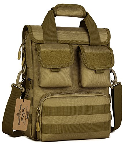 Camouflage Laptop Bag - ArcEnCiel Men Outdoor Tactical Bag Oxford Molle Messenger Bags Military Camouflage Crossbody Shoulder Bags Sports Tool kit Handbag (Coyote Brown)