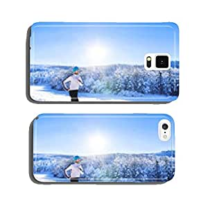 Man jogging in winter nature cell phone cover case iPhone6