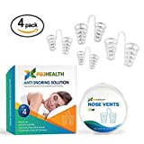 P & J Health - Nose Vents Snore Stopper, Anti Snoring Solution, Breathing Aids (Set of 4)
