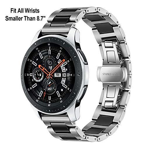 TRUMiRR 22mm Ceramic Watch Band Correa de liberación rápida Todos los enlaces Desmontable para Samsung Gear S3 Classic Frontier, Gear 2 Neo Live, Moto ...