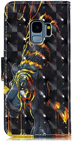 OMATENTI Galaxy S9 ケース, 良質 PU レザー 財布型 ケース, 3Dカラーパターン おしゃれ 手帳カバー 薄型 人気 新製品 き スタンド機能 マグネット開閉式 カード収納付 Galaxy S9 用 Case Cover, 少女