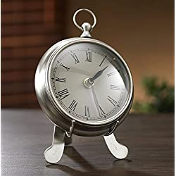 9 Pewter Desk Clock with Stand from KINDWER