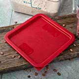 Carlisle 1074105 StorPlus Red Polyethylene Lid For