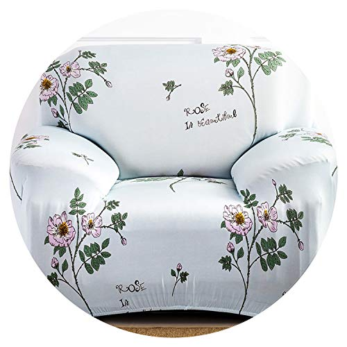 (Universal Size 1/2/3/4 Seater Stretch Sofa Cover Printing Flower Sofa Covers slipcovers Couch Cover Furniture Home Decorations,6408,3 Seater 190-230cm)