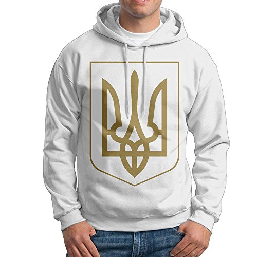 Men's Coat Of Arms Of Ukraine Hoodies Hooded Sweatshirt Pullover Sweater, Drawstring Hooded Clothing Suits (Of Coat Arms Ukraine)