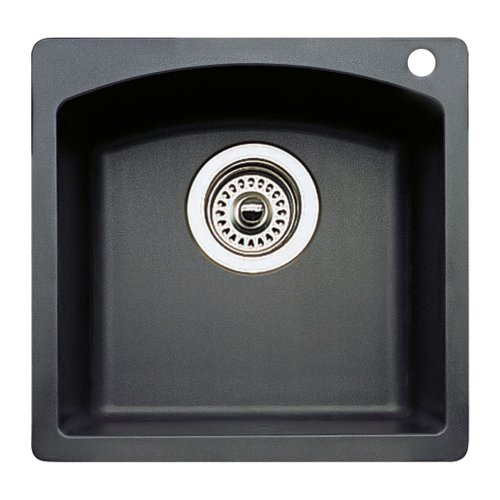 Blanco 440204 15-Inch x 15-Inch Diamond Bar Sink - Anthracite Finish