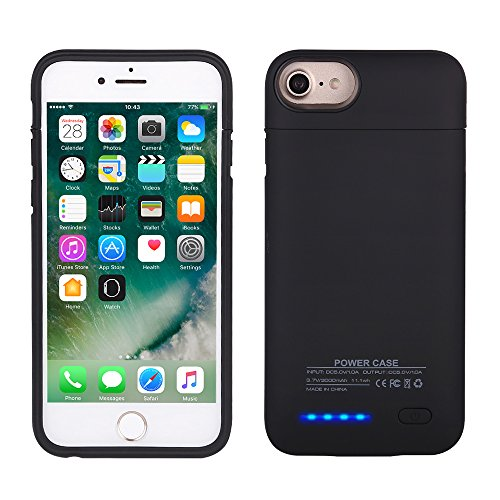 IPhone 7/6S/6 Battery Case, Mbuynow 3000mAH Ultra-thinBattery Case Rechargeable Backup Battery Power bank Charger Case with Magnet bracket 4.7 inch (Black)