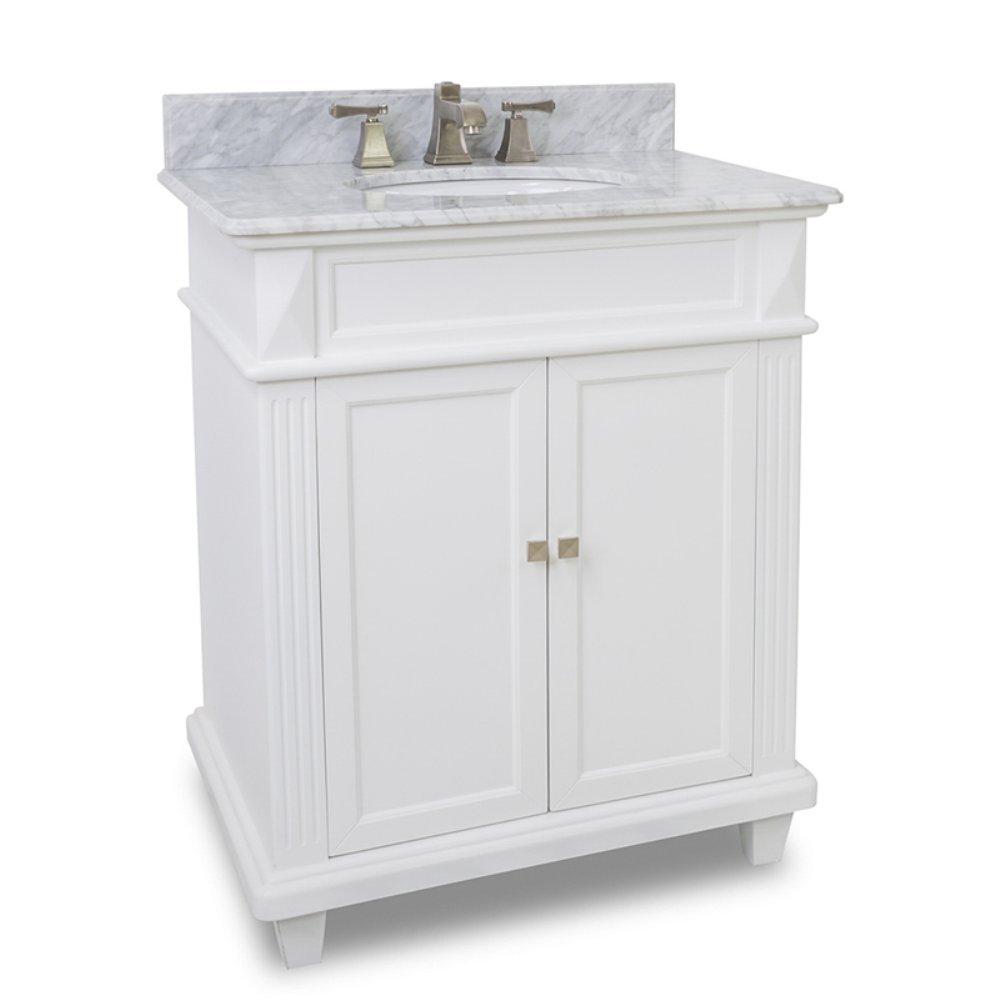 Elements VANTMW Douglas Vanity Painted White Vanity Sinks - Bathroom vanities raleigh nc